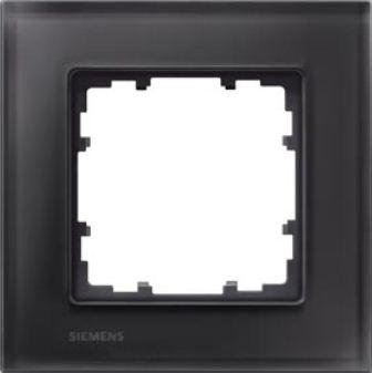 SIEMENS 5TG1201-2 Abdeckrahmen Echtmaterial Glas schwarz 1-fach