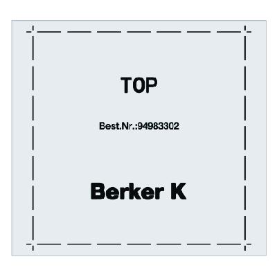 BERKER 94983302 Klebefolie für Funk-Wandsender und Funk-Wächter flach
