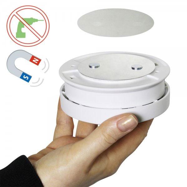 DEL-KO ZUB-MPA1-240 Selbstklebender Magnetpad für Rauchmelder