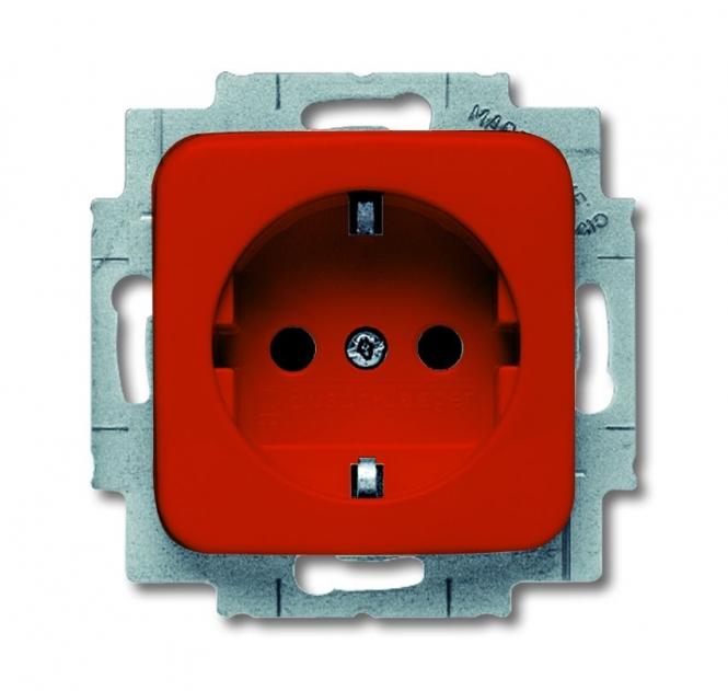 busch jaeger reflex si 20 eucks 217 steckdose mit kinderschutz rot online kaufen im voltus. Black Bedroom Furniture Sets. Home Design Ideas