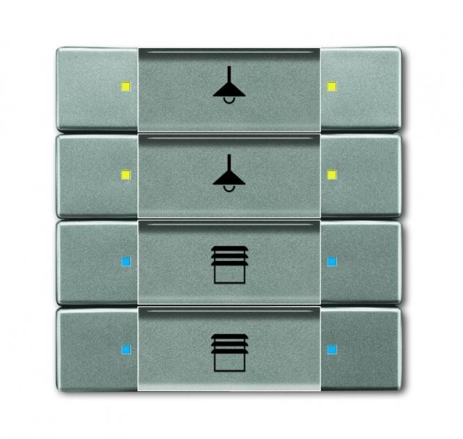 busch jaeger 6127 02 803 bedienelement 4 8fach grau metallic online kaufen im voltus elektro shop. Black Bedroom Furniture Sets. Home Design Ideas