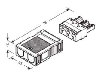 HAGER G4703 Eingangsbuchse Wago Stecksystem 3-polig online ...