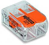 WAGO 221-412 COMPACT-Verbindungsklemme  für alle Leiterarten 2-Leiter bis 4qmm