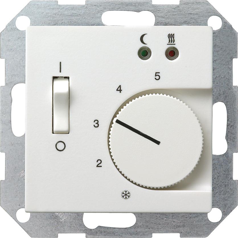 gira 039403 raumtemperatur regler f r elektrische fussbodenheizung mit sensor reinwei gl nzend. Black Bedroom Furniture Sets. Home Design Ideas