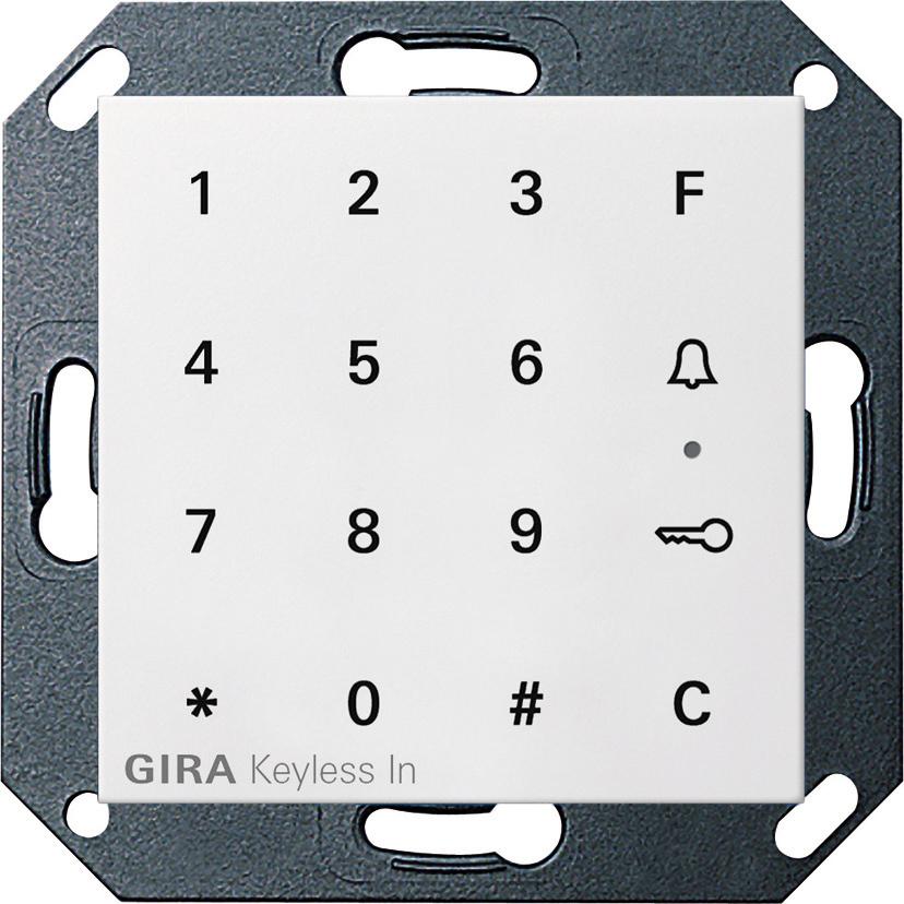 gira 260503 keyless in codetastatur reinwei gl nzend. Black Bedroom Furniture Sets. Home Design Ideas